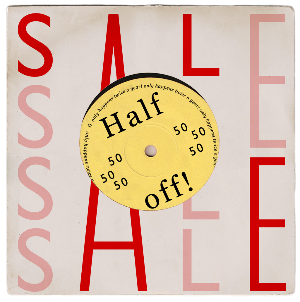 sale is on... shop 50% off