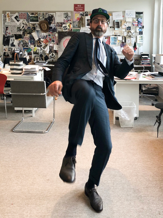 high kicking in the office